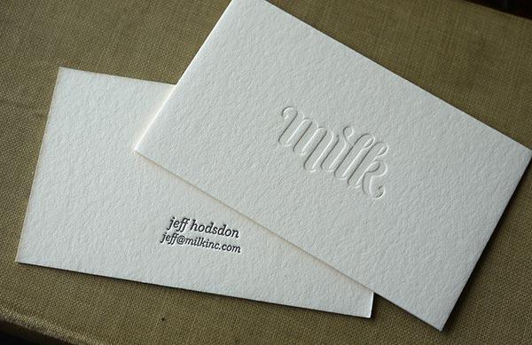 Виды печатной техники визиток с примерами 6