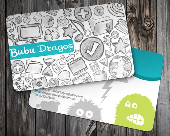 Логотипы и графические изображения на визитке