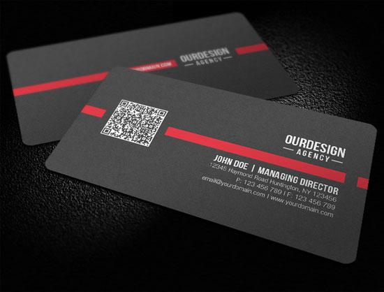 добавления QR-кода в дизайн визитной карточки 2