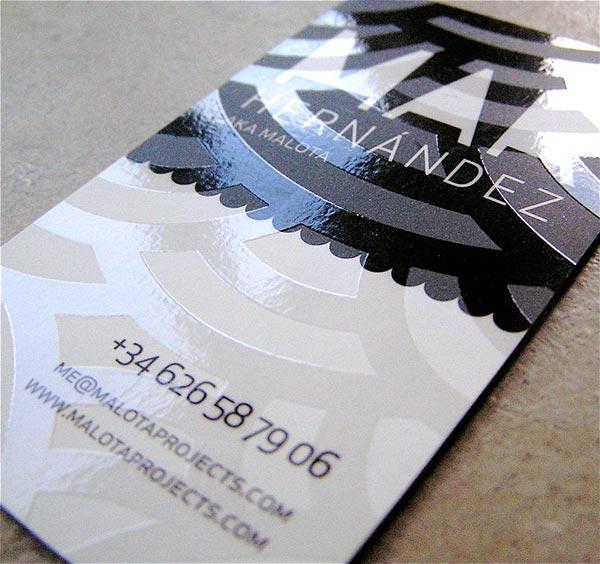 Виды печатной техники визиток 2