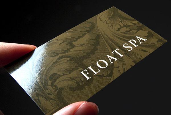Виды печатной техники визиток с примерами 17